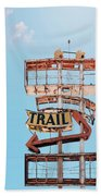 Vintage Neon Sign - The Spanish Trail - Tucson, Arizona Hand Towel