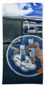 Vintage Nose Art B-25j Mitchell Bath Towel