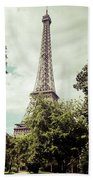 Vintage Paris Landscape Bath Towel
