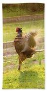 Vintage Pheasant Bath Towel