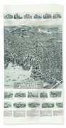 Vintage Pictorial Map Of Lynn Massachusetts - 1916 Bath Towel