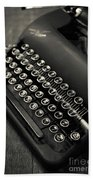Vintage Portable Typewriter Hand Towel