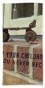 Vintage Roller Skate Quote Bath Sheet