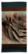 Vintage Rose On Old Wall 2 By Kaye Menner Bath Towel