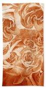 Vintage Rose Petals Abstract  Bath Towel