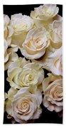 Vintage Roses Bouquet Bath Towel