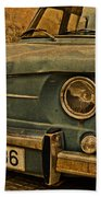 Vintage Rusty Renault Truck Bath Towel