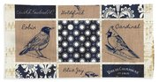 Vintage Songbirds Patch Bath Towel