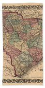 Vintage South Carolina Map Bath Towel