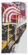 Vintage Train Locomotive Bath Towel