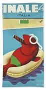 Vintage Travel Poster Italy Bath Towel
