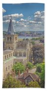 Vintage View Of The Cathedral Bath Towel