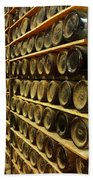 Vintage  Wine Bottles Bath Towel