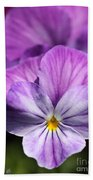 Viola Named Columbine Bath Towel