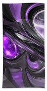 Violaceous Abstract  Bath Towel