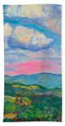 Violet Evening On Rocky Knob Bath Towel