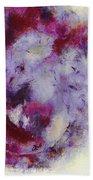 Violets Abstract Bath Towel