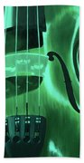 Violin In Green Bath Towel