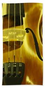 Violin In Yellow Bath Towel