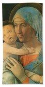 Virgin And Child 1495 Bath Towel