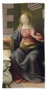 Virgin Mary, From The Annunciation Bath Towel