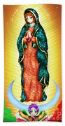 Virgin Of Guadalupe. Bath Towel