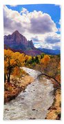 Virgin River Autumn Bath Towel by Greg Norrell