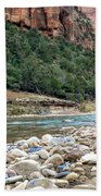 Virgin River In Zion Canyon Bath Towel