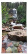 Virginia Falls - Glacier N.p. Bath Towel