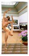Virtual Exhibition - Dacanvasncing Girl Bath Towel