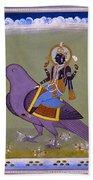 Vishnu On A Bird Hand Towel