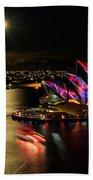 Vivid Sydney Under Full Moon Bath Towel