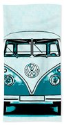 Vw Van Graphic Artwork Bath Towel