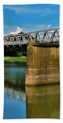 Waco Suspension Bridge 2 Bath Towel