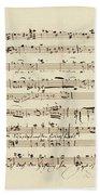 Wagner, Richard Autograph Working Drafts For Act I Of Der Fliegende Hollander Bath Towel