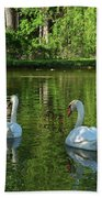 Wagner Vinyard Estate Swans Finger Lakes Lodi Ny Bath Towel