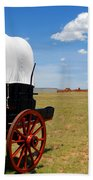 Wagon At Old Fort Union Hand Towel