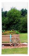 Wagon With Flowers Bath Towel