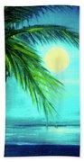 Waikiki Beach Moon #22 Bath Towel