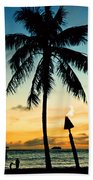 Waikiki Sunset Bath Towel