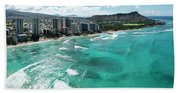 Waikiki To Diamond Head Bath Towel