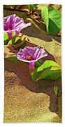 Wailea Beach Morning Glory With Honeybee Bath Towel