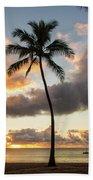 Waimea Beach Sunset - Oahu Hawaii Hand Towel
