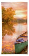 Waiting For The Dawn In Peach Bath Towel