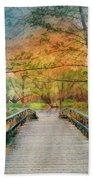 Walk To The Lake In Watercolors Hand Towel
