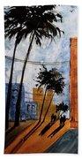 Walking Home, Watercolor Bath Towel