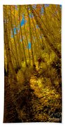 Walking With Autumn Bath Towel