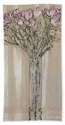 Wall Flower Decoration Bath Towel
