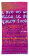 Walt Whitman Quote Typewriter Bath Towel
