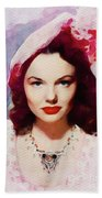 Wanda Hendrix, Vintage Movie Star Bath Towel